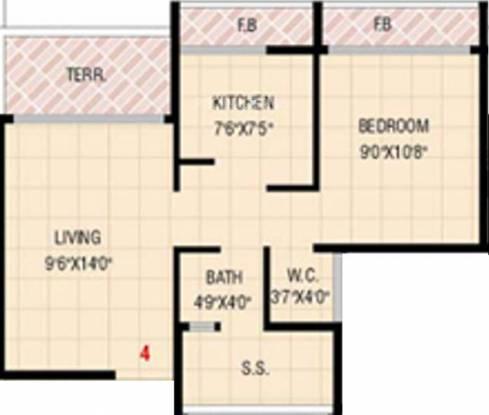 Neelkanth Krupa (1BHK+1T (726 sq ft) Apartment 726 sq ft)