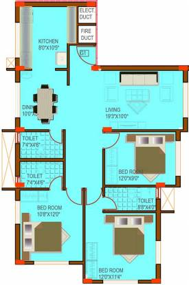 Land Rehoboth (3BHK+3T (1,260 sq ft) Apartment 1260 sq ft)