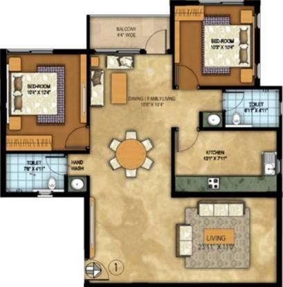 Vista Auburn (2BHK+2T (1,210 sq ft) Apartment 1210 sq ft)