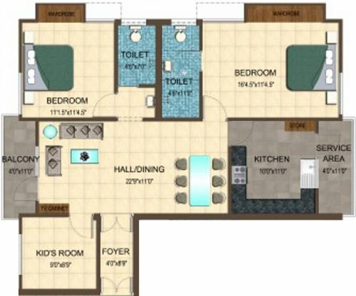 Fairyland Annora 1 (3BHK+2T (1,385 sq ft) Apartment 1385 sq ft)