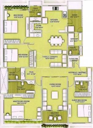 Sijcon Zodiac Aster (4BHK+5T (3,087 sq ft) Apartment 3087 sq ft)