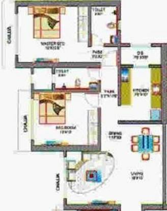 Saaga Serenity (2BHK+2T (1,152 sq ft) Apartment 1152 sq ft)