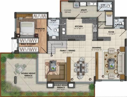 BSCPL Serene (3BHK+5T (2,200 sq ft) Apartment 2200 sq ft)