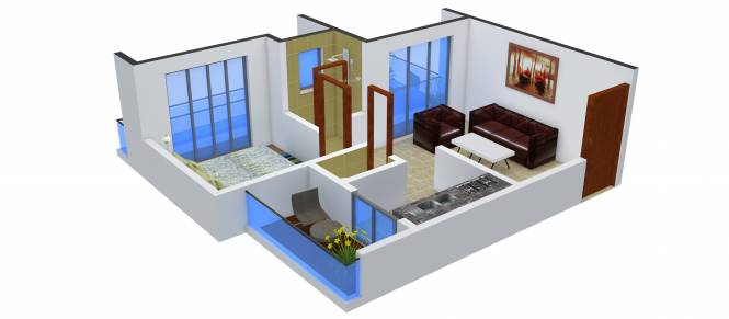 Sambhav Jai Plaza (1BHK+1T (635 sq ft) Apartment 635 sq ft)