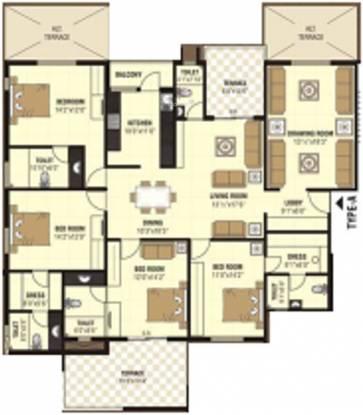 Nanik A Square (4BHK+5T (2,834 sq ft) Apartment 2834 sq ft)