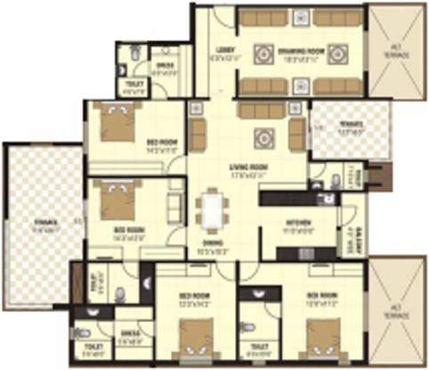 Nanik A Square (4BHK+5T (2,845 sq ft) Apartment 2845 sq ft)