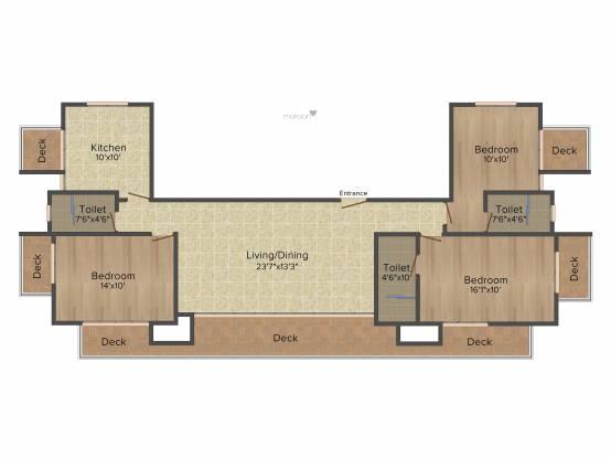 Mittal Gardenia (3BHK+3T (1,800 sq ft) Apartment 1800 sq ft)