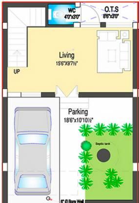DABC Habitat (2BHK+3T (1,400 sq ft) Villa 1400 sq ft)