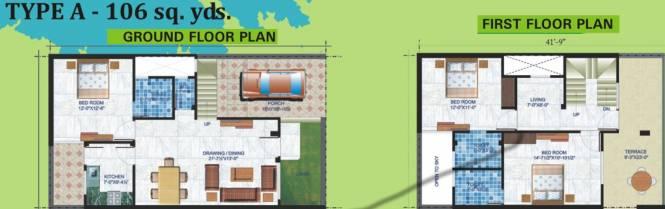 Unnati Villas (3BHK+3T (954 sq ft) Villa 954 sq ft)