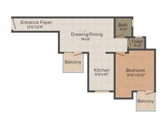 CHD Karnal Homes (1BHK+1T (383 sq ft) Apartment 383 sq ft)