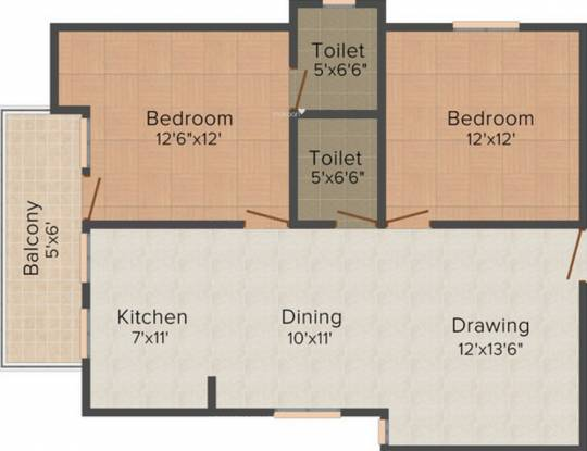 Balaji Gravity Apartment (2BHK+2T (1,100 sq ft) Apartment 1100 sq ft)