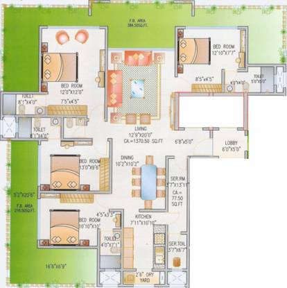Blackstone Vertical Bliss (4BHK+4T (3,000 sq ft)   Servant Room Apartment 3000 sq ft)