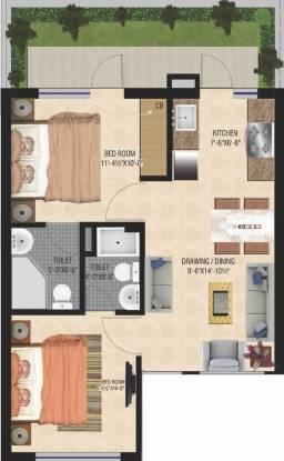 GBP Eco Greens Floors (2BHK+2T (780 sq ft) Apartment 780 sq ft)
