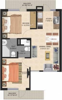 GBP Eco Greens Floors (2BHK+2T (784 sq ft) Apartment 784 sq ft)