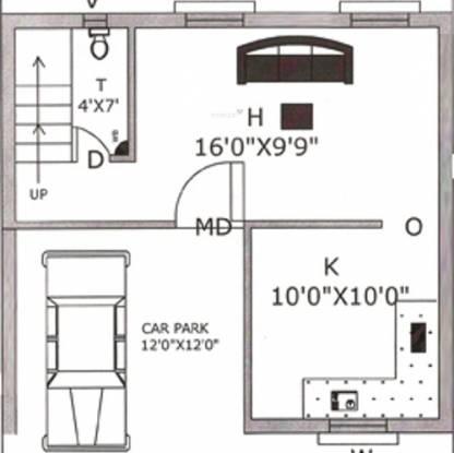 Rajeswari Row House (2BHK+3T (1,053 sq ft) Villa 1053 sq ft)