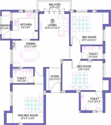 Firm Palani Nivas (3BHK+3T (1,400 sq ft) Apartment 1400 sq ft)