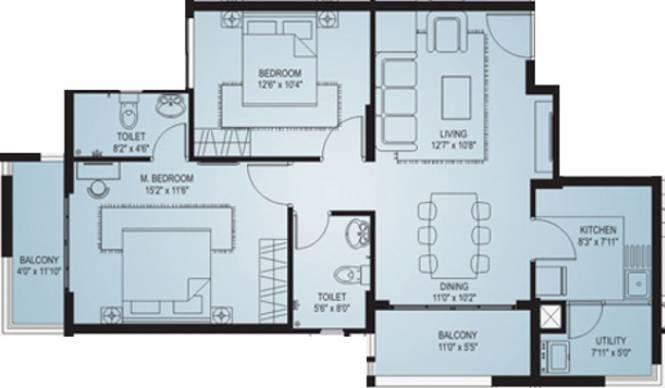 Land Varashree Residency (2BHK+2T (1,120 sq ft) Apartment 1120 sq ft)