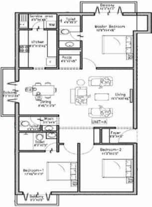 GRCL Mahalakshmi (3BHK+3T (1,538 sq ft) Apartment 1538 sq ft)