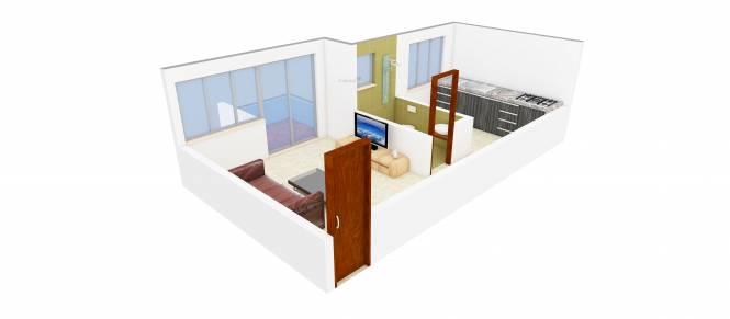 Makwana Bhakti Amrut (1BHK+1T (607 sq ft) Apartment 607 sq ft)