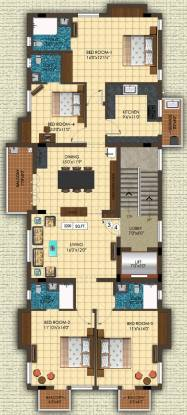 LCS City Anjanadri (4BHK+4T (2,200 sq ft) Apartment 2200 sq ft)