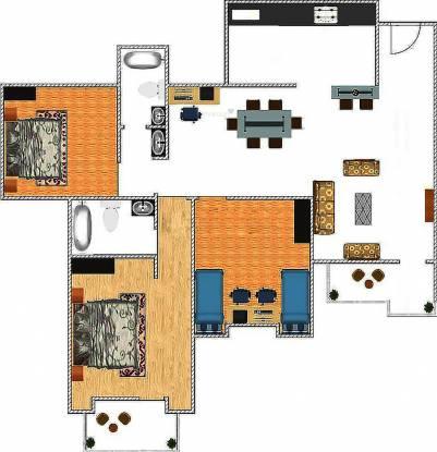 Nandi Woods (3BHK+2T (1,390 sq ft) Apartment 1390 sq ft)