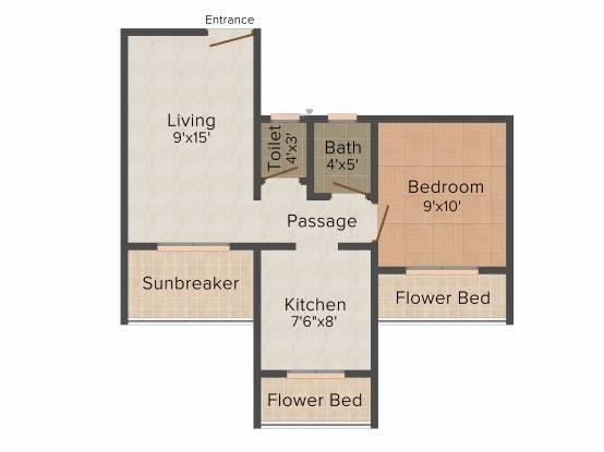 Precious Harmony (1BHK+1T (660 sq ft) Apartment 660 sq ft)