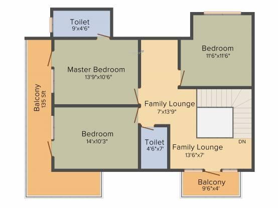 Honeycomb Silver Cloud (4BHK+3T (2,210 sq ft) Apartment 2210 sq ft)