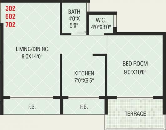 Today Shree Smaran (1BHK+1T (650 sq ft) Apartment 650 sq ft)