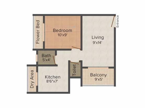Mohak (1BHK+1T (595 sq ft) Apartment 595 sq ft)
