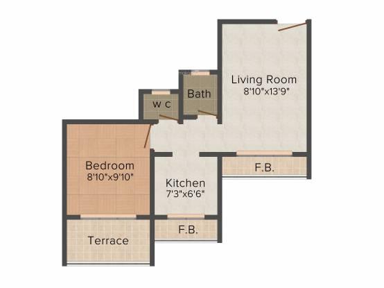 Dubey Gayatri Chhaya (1BHK+1T (658 sq ft) Apartment 658 sq ft)