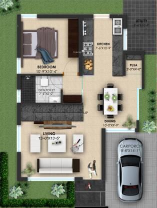 Hegde Silver Springs Villas (3BHK+3T (1,890 sq ft) Villa 1890 sq ft)