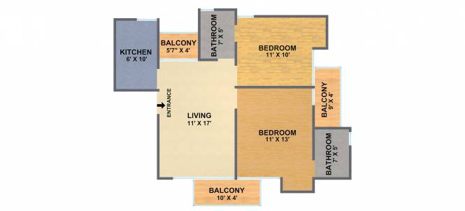 Antriksh Galaxy (2BHK+2T (920 sq ft) Apartment 920 sq ft)