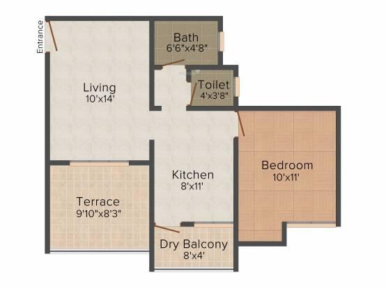 Venkatesh Joy Nest (1BHK+1T (684 sq ft) Apartment 684 sq ft)