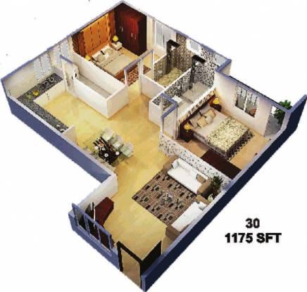 Sumukha Sterling (2BHK+2T (1,175 sq ft) Apartment 1175 sq ft)