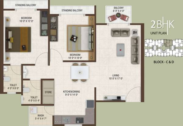 Rajhans Platinum Residency (2BHK+2T (1,170 sq ft) Apartment 1170 sq ft)