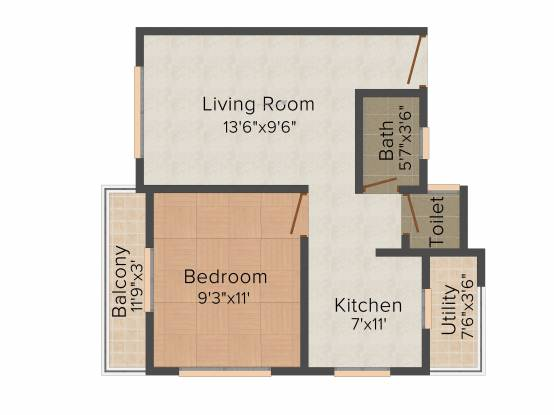 Vitoria Green (1BHK+1T (720 sq ft) Apartment 720 sq ft)