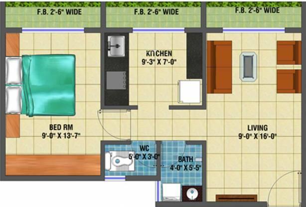 Arihant Anaika (1BHK+1T (702 sq ft) Apartment 702 sq ft)