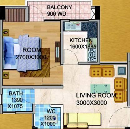 UPAVP Gulmohar Enclave (1BHK+1T (366 sq ft) Apartment 366 sq ft)