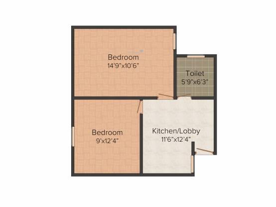 RTS Katyani Hill View (2BHK+2T (561 sq ft) Apartment 561 sq ft)