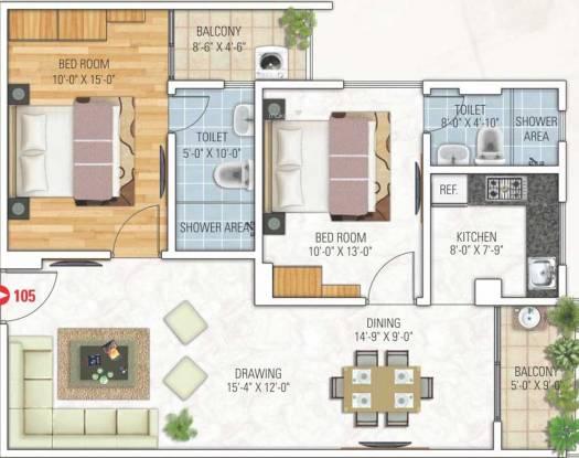 Kotecha Royal Tatvam (2BHK+2T (1,202 sq ft) Apartment 1202 sq ft)