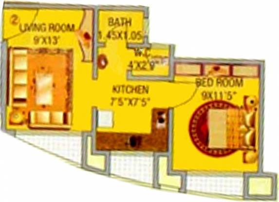 Gauda Bhakti Heights (1BHK+1T (500 sq ft) Apartment 500 sq ft)