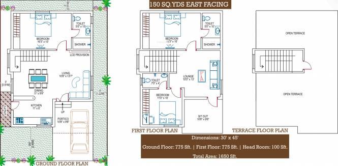 Srinidhi Oakland (3BHK+3T (1,650 sq ft) Villa 1650 sq ft)