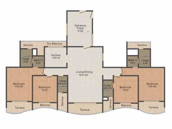 Paradise Sai Mannat (4BHK+4T (3,275 sq ft) Apartment 3275 sq ft)