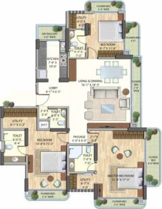Omkar Bellezza (3BHK+4T (2,340 sq ft) Apartment 2340 sq ft)