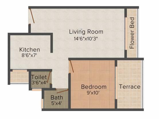 Kailash Pratik Regalia (1BHK+1T (704 sq ft) Apartment 704 sq ft)