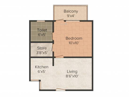RTS Katyani Hill View (1BHK+1T (413 sq ft) Apartment 413 sq ft)