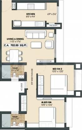 Neptune Complex (2BHK+2T (915 sq ft) Apartment 915 sq ft)
