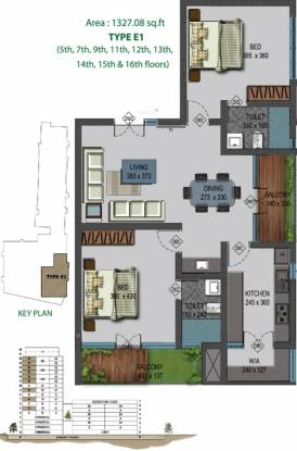 Ladder Mankav Green (2BHK+2T (1,327 sq ft) Apartment 1327 sq ft)