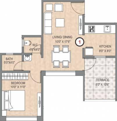 Legacy Aqua Marina (1BHK+1T (413 sq ft) Apartment 0 sq ft)