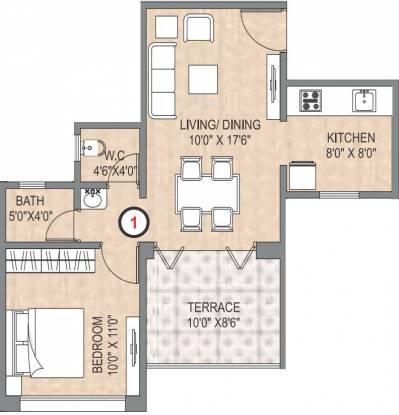 Legacy Aqua Marina (1BHK+1T (416 sq ft) Apartment 416 sq ft)